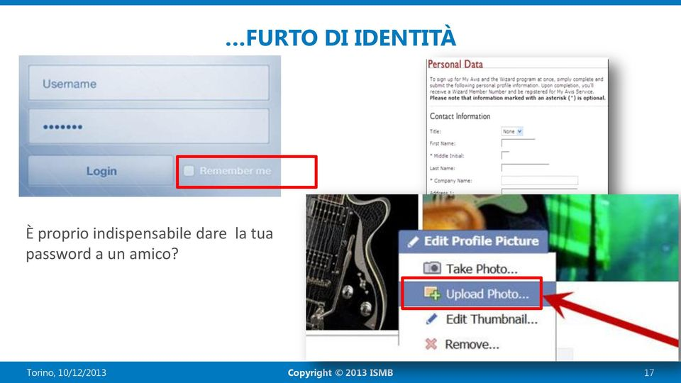 dare la tua password a