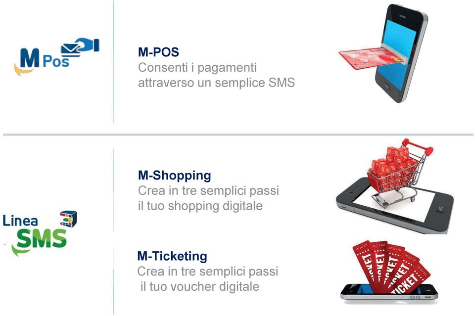 passi il tuo shopping digitale M-Ticketing