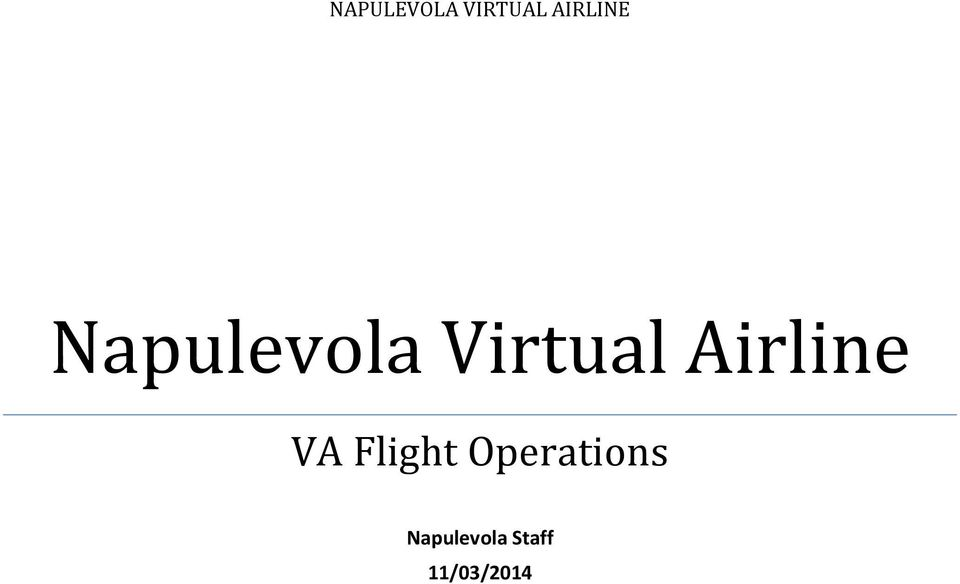Virtual Airline VA Flight