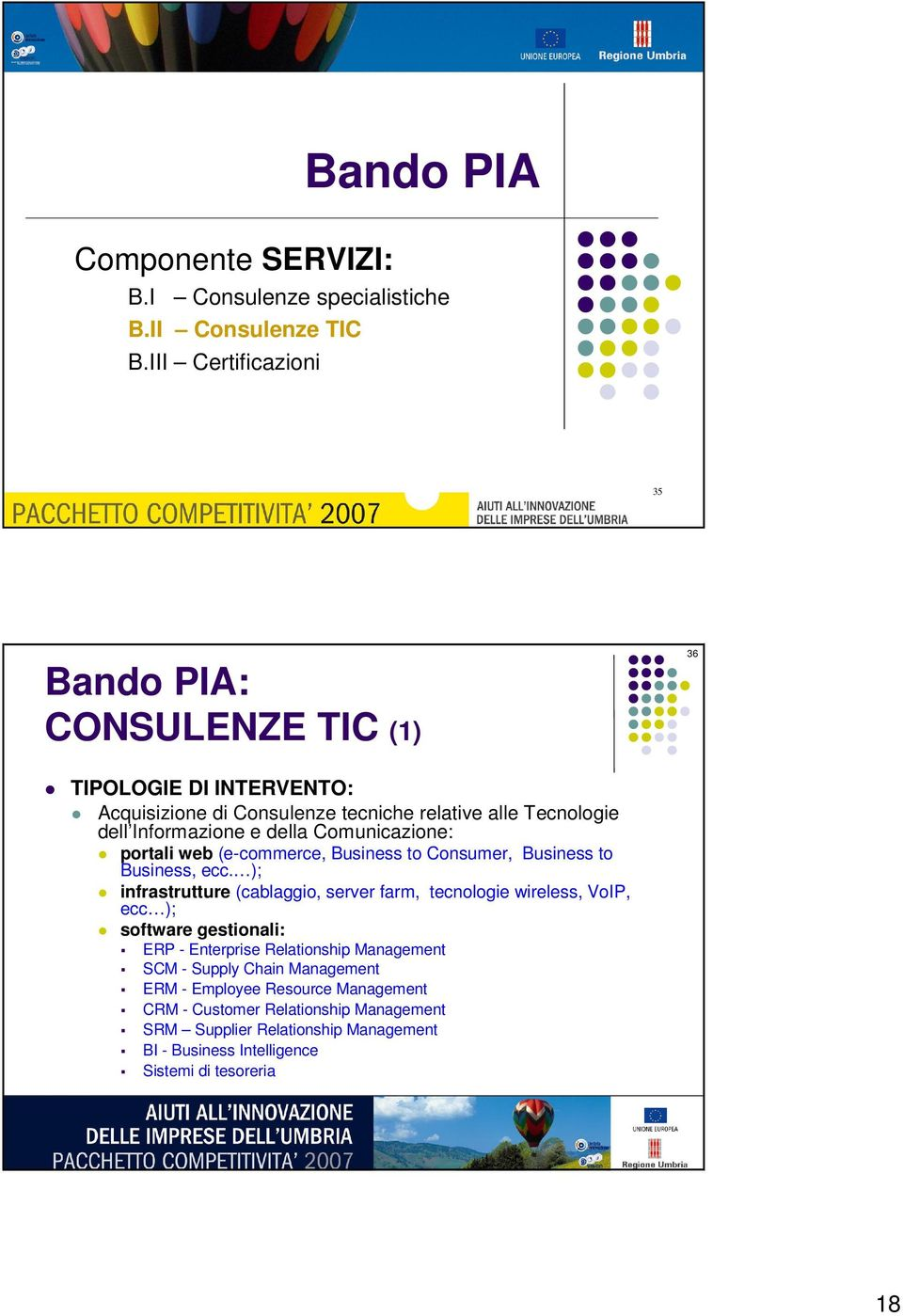 Comunicazione: portali web (e-commerce, Business to Consumer, Business to Business, ecc.