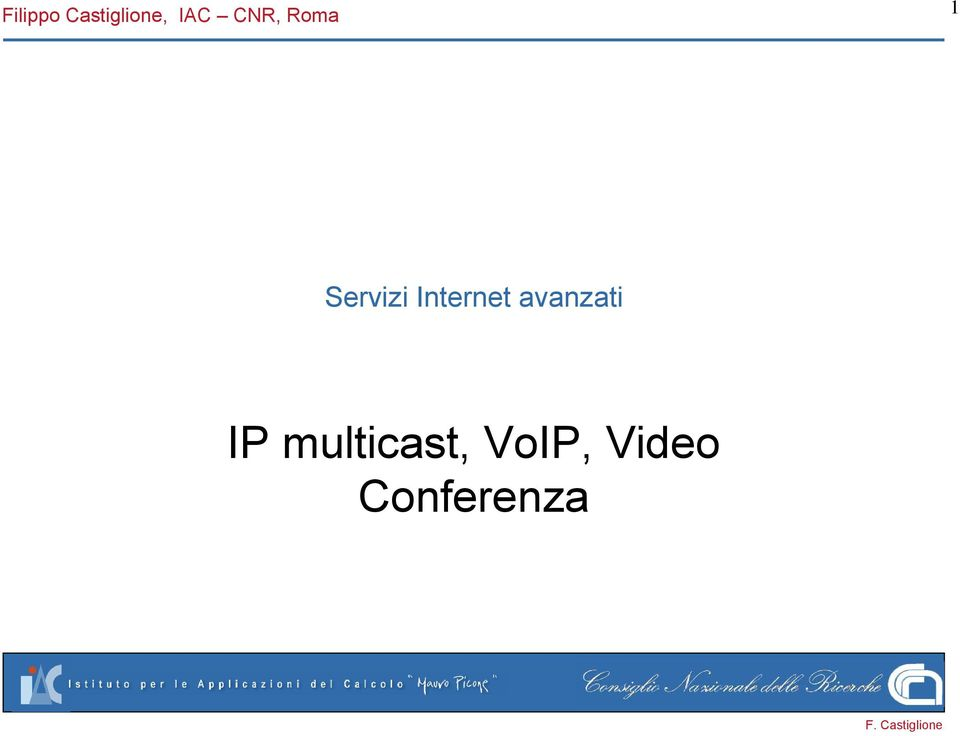 Internet avanzati IP
