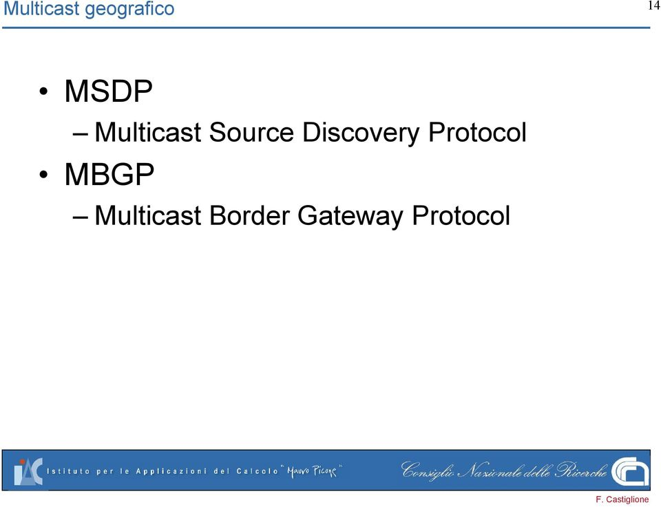 Discovery Protocol MBGP