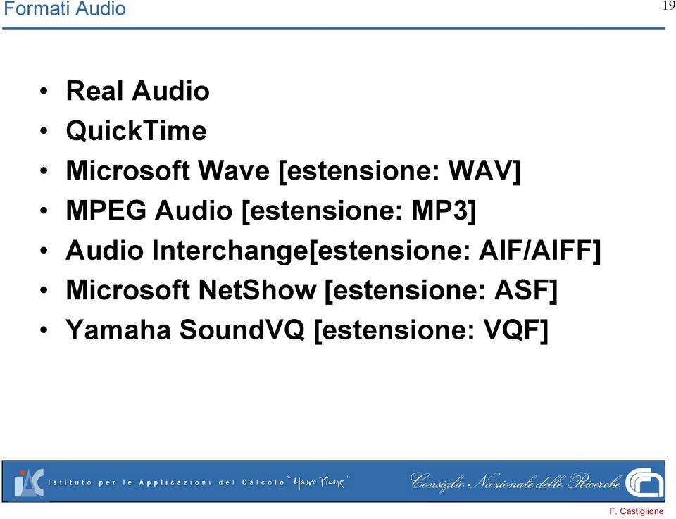 Audio Interchange[estensione: AIF/AIFF] Microsoft
