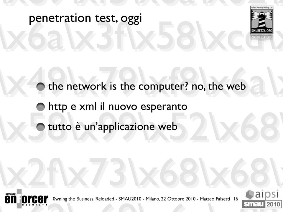 applicazione web 0wning the Business, Reloaded -