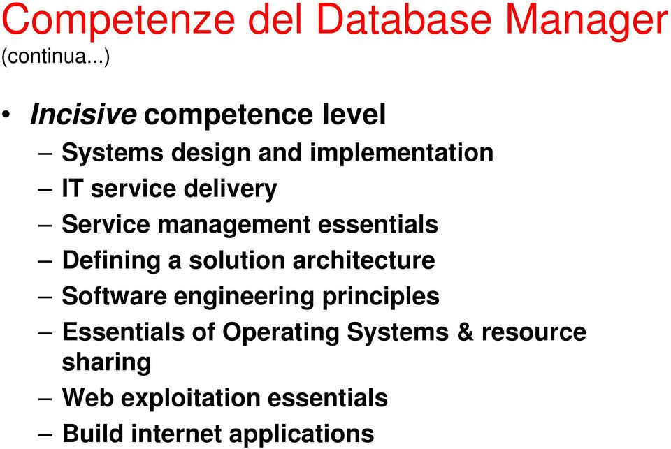 delivery Service management essentials Defining a solution architecture Software
