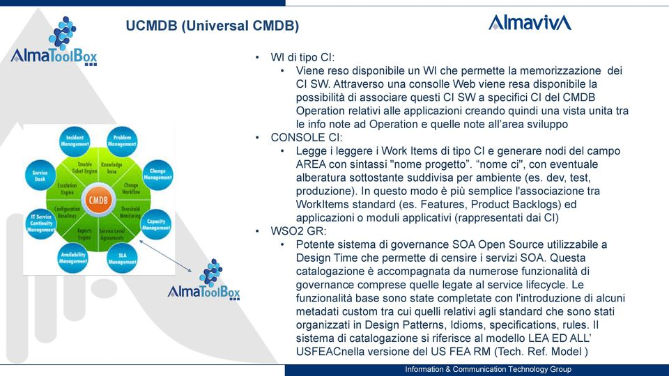 "note ad Operation e quelle note all area sviluppo CONSOLE CI: Legge i leggere i Work Items di tipo CI e generare nodi del campo AREA con sintassi ""nome progetto."
