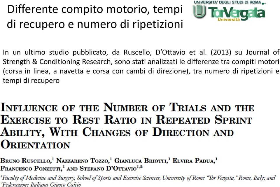 (2013) su Journal of Strength & Conditioning Research, sono stati analizzati le