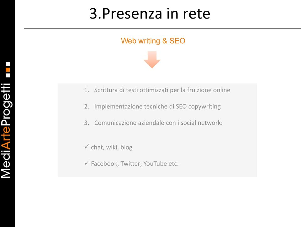 Implementazione tecniche di SEO copywriting 3.