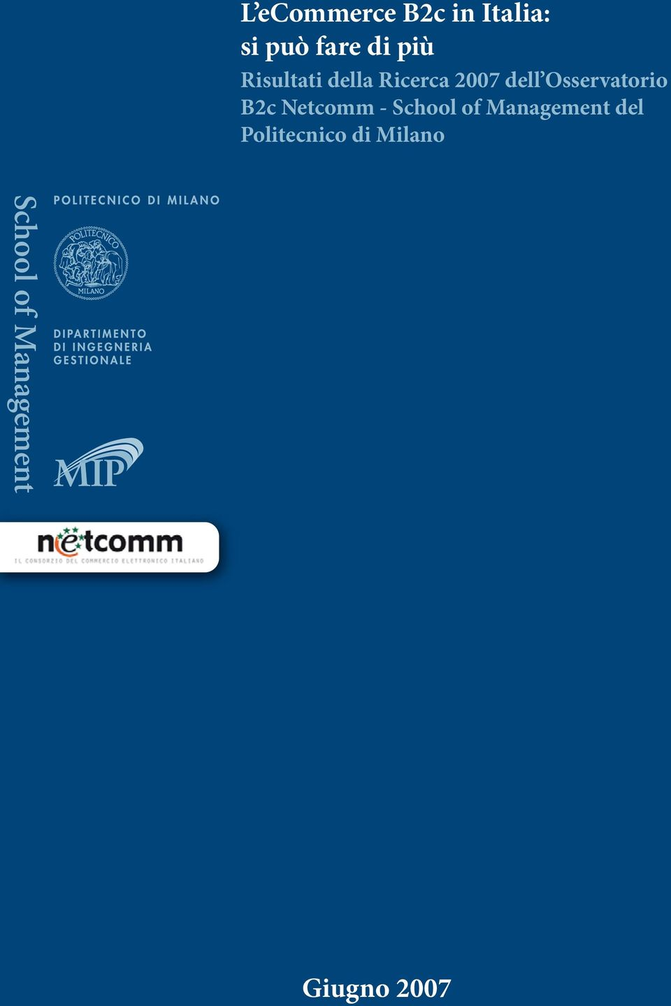 Osservatorio B2c Netcomm - School of