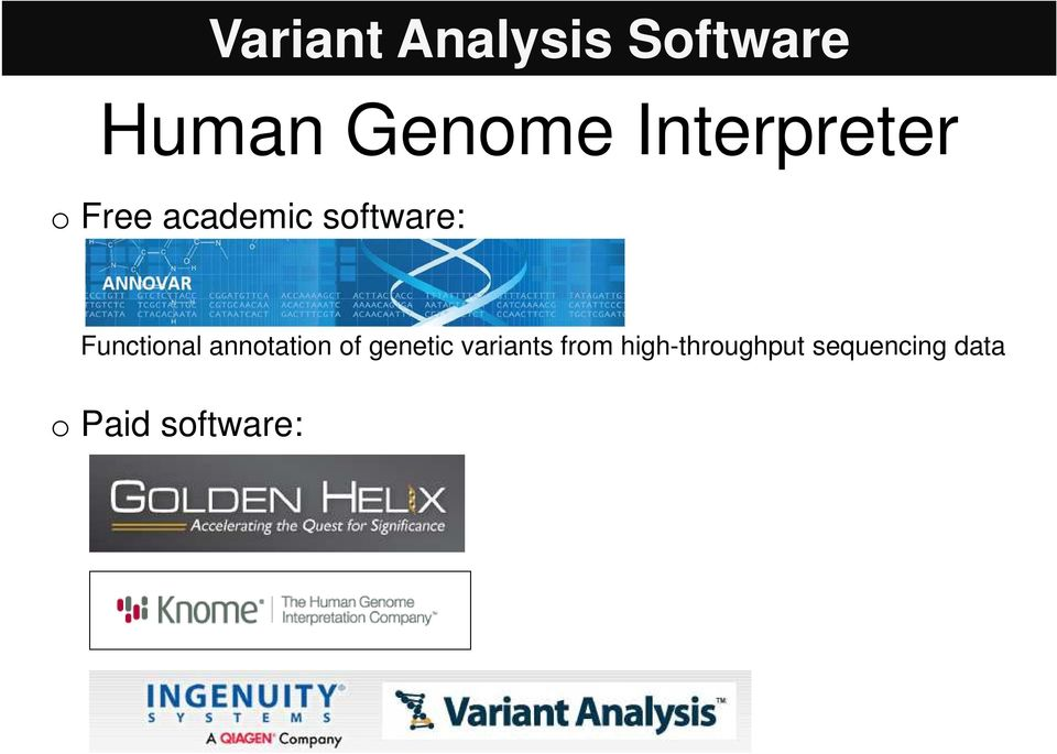 Functinal anntatin f genetic variants
