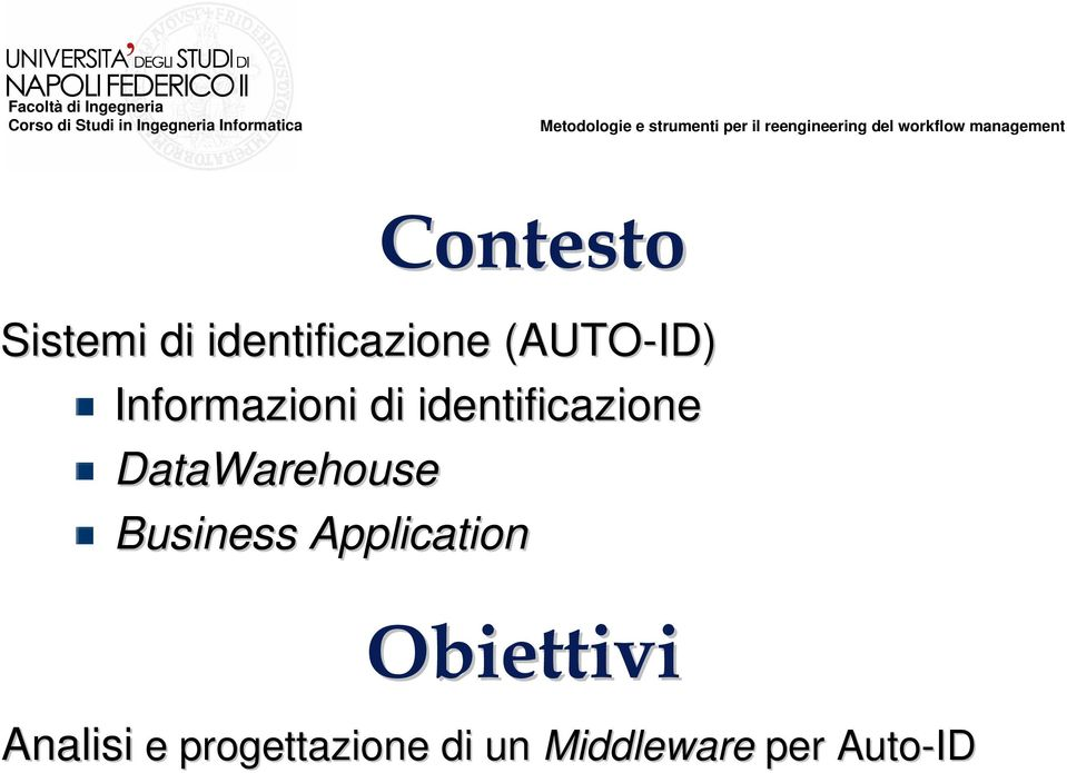 DataWarehouse Business Application