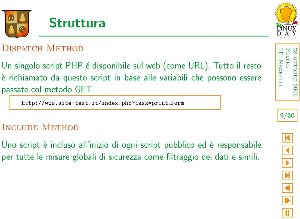 metodo GET. http://www.site-test.it/index.php?