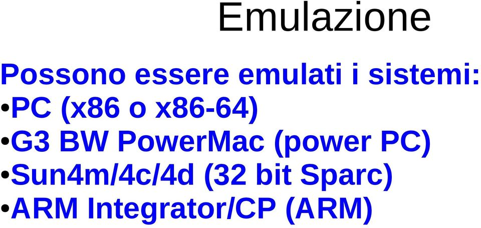 PowerMac (power PC) Sun4m/4c/4d