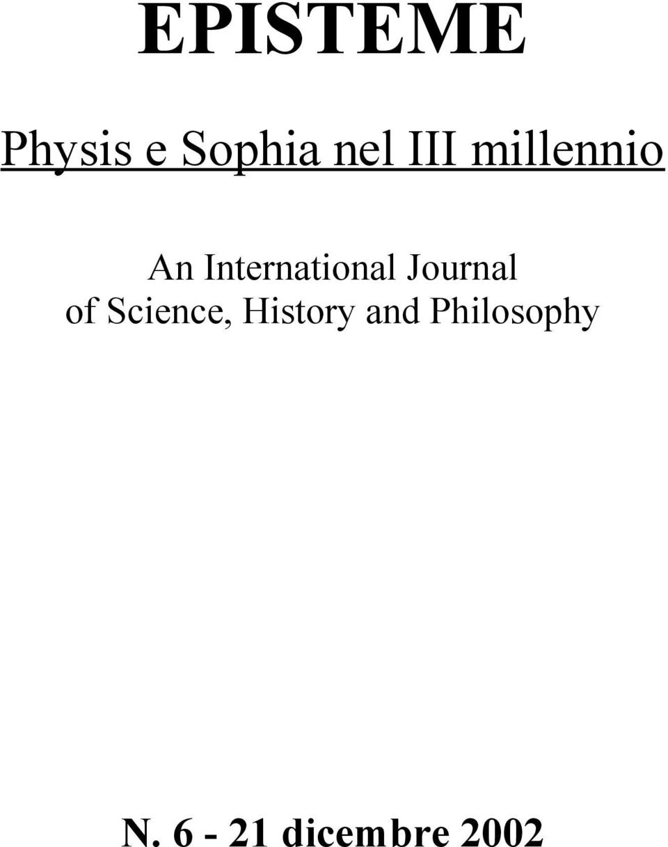 Journal of Science, History