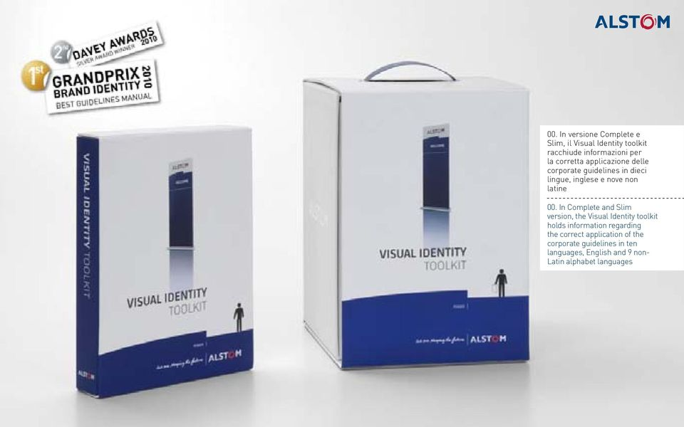 In Complete and Slim version, the Visual Identity toolkit holds information regarding the
