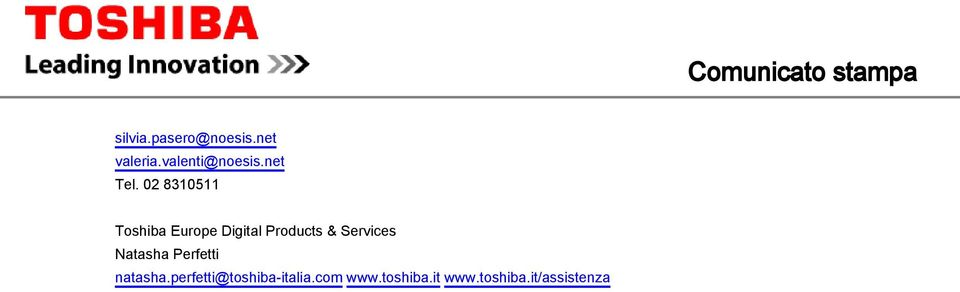 02 8305 Toshiba Europe Digital Products & Services