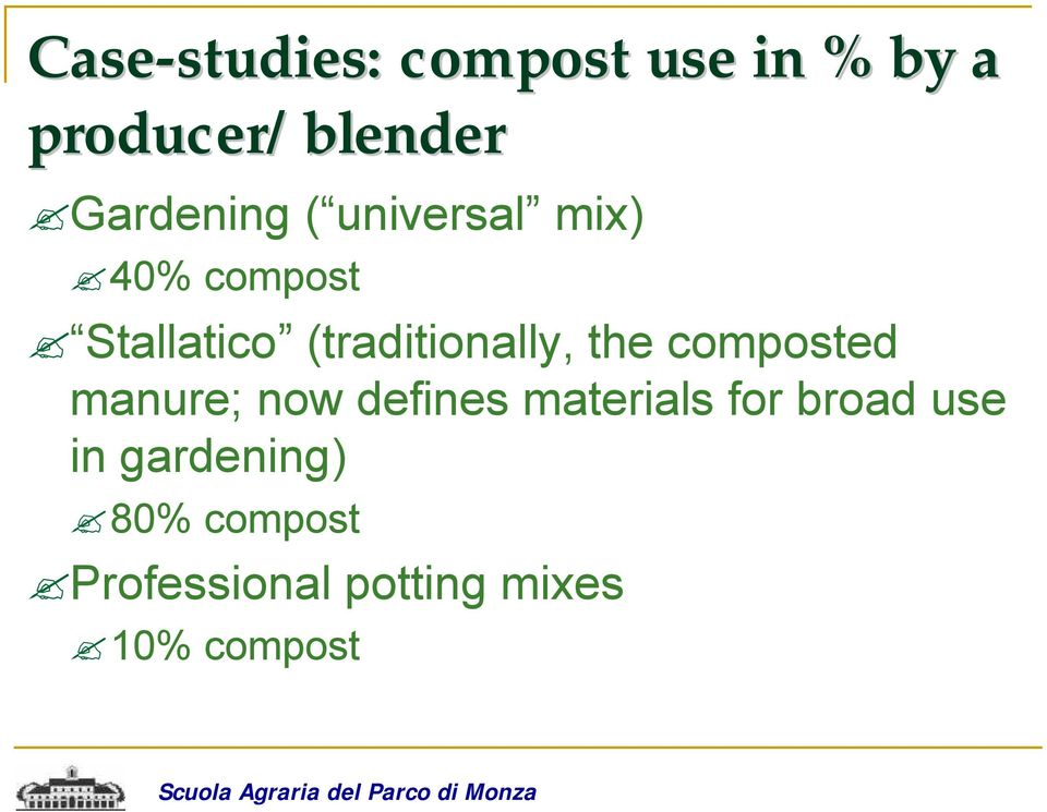 (traditionally, the composted manure; now defines materials