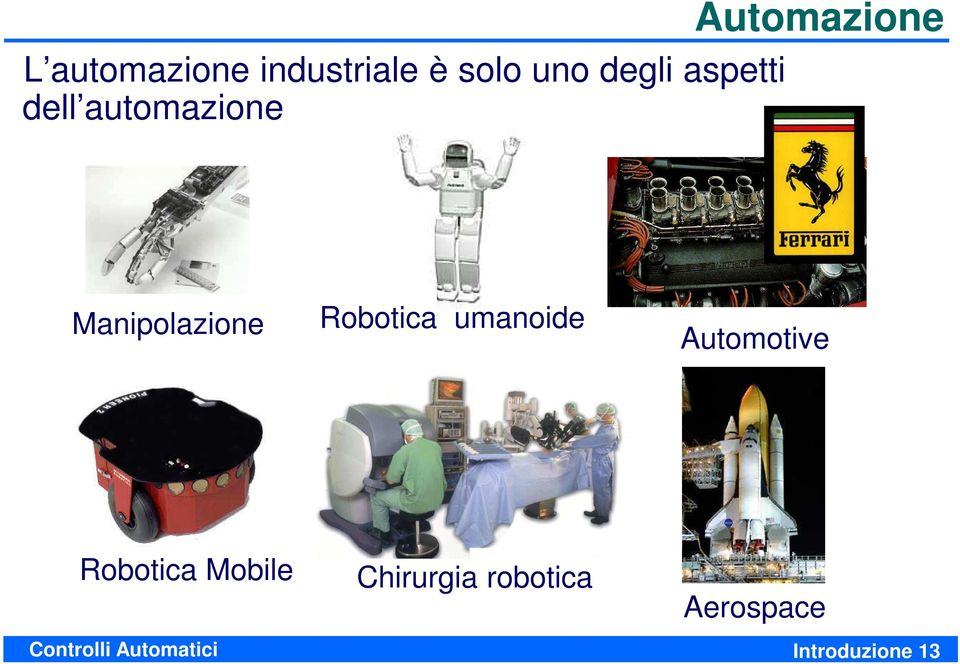Robotica umanoide Automotive Robotica Mobile
