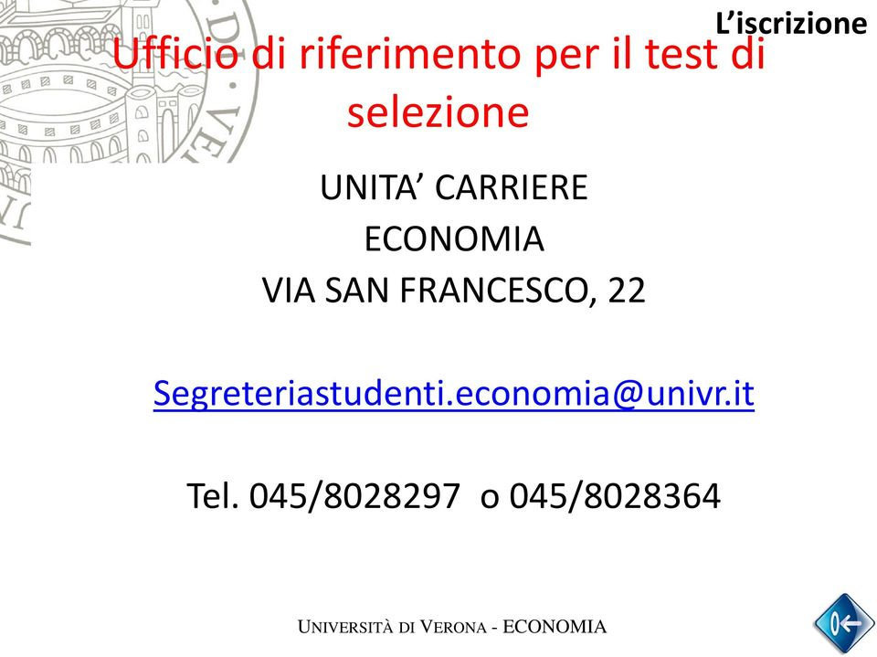 Open day 2014 economia universit di verona economia pdf for Test di economia