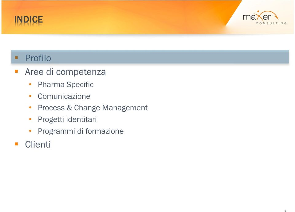 Process & Change Management Progetti