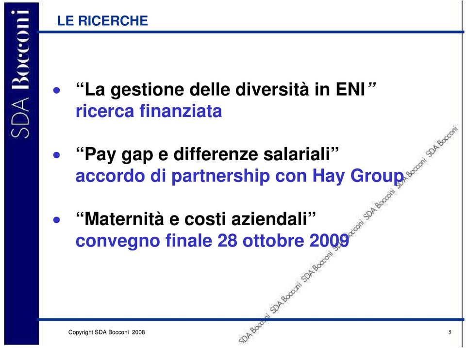 salariali accordo di partnership con Hay Group