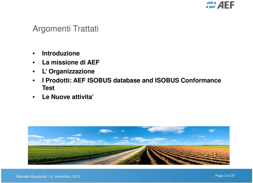 database and ISOBUS Conformance Test Le Nuove