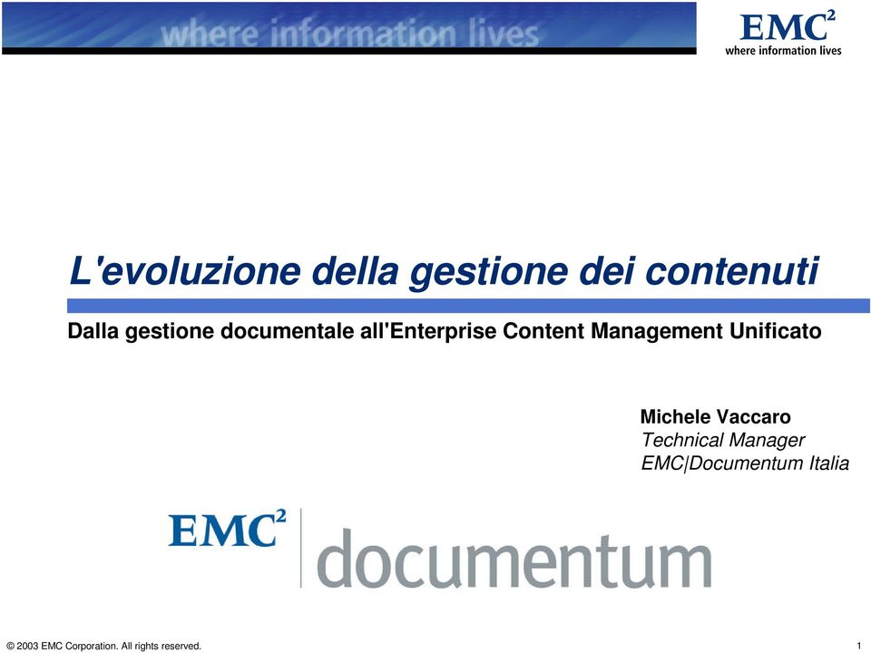 Content Management Unificato Michele