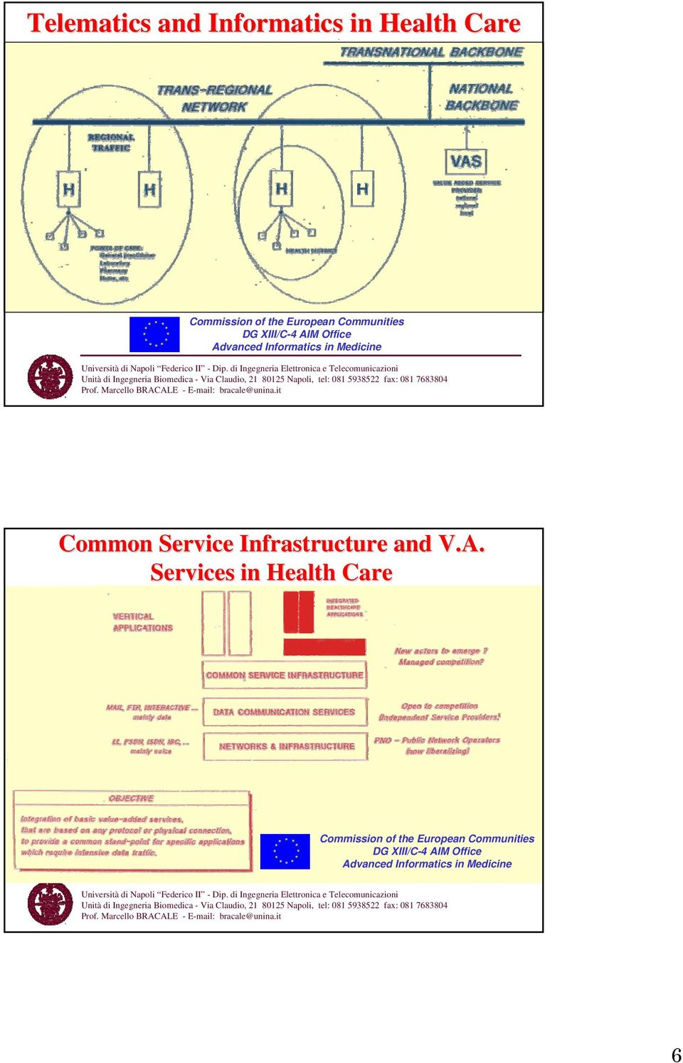 Common Service Infrastructure and V.A.