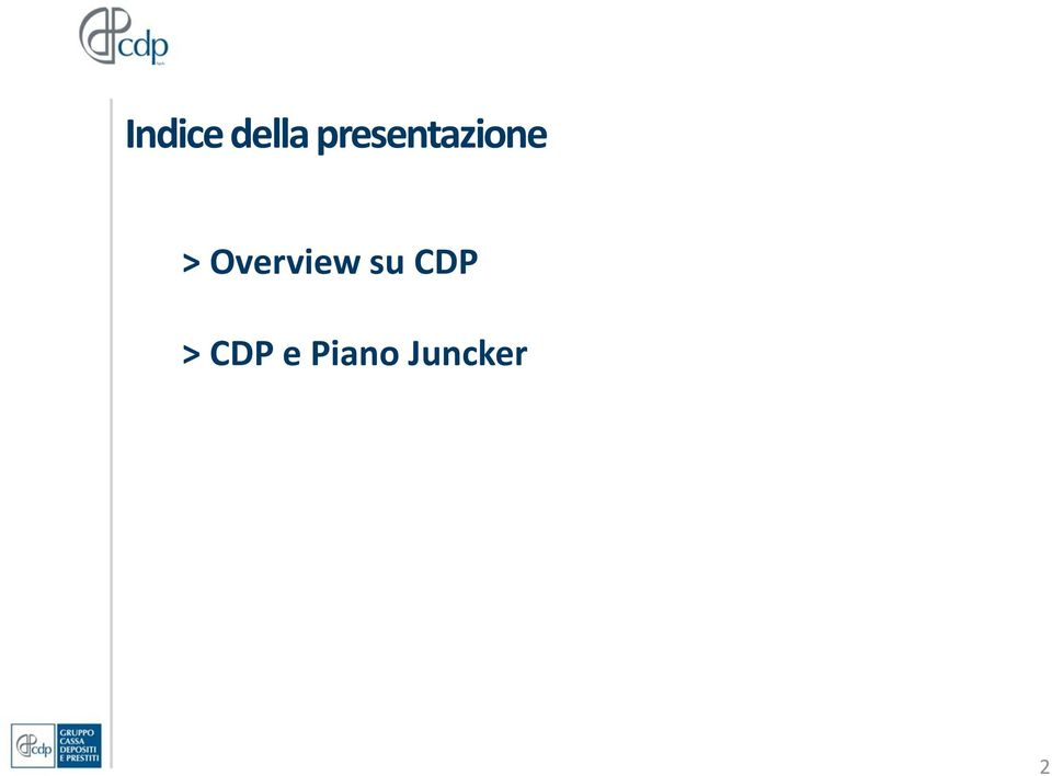 Overview su CDP