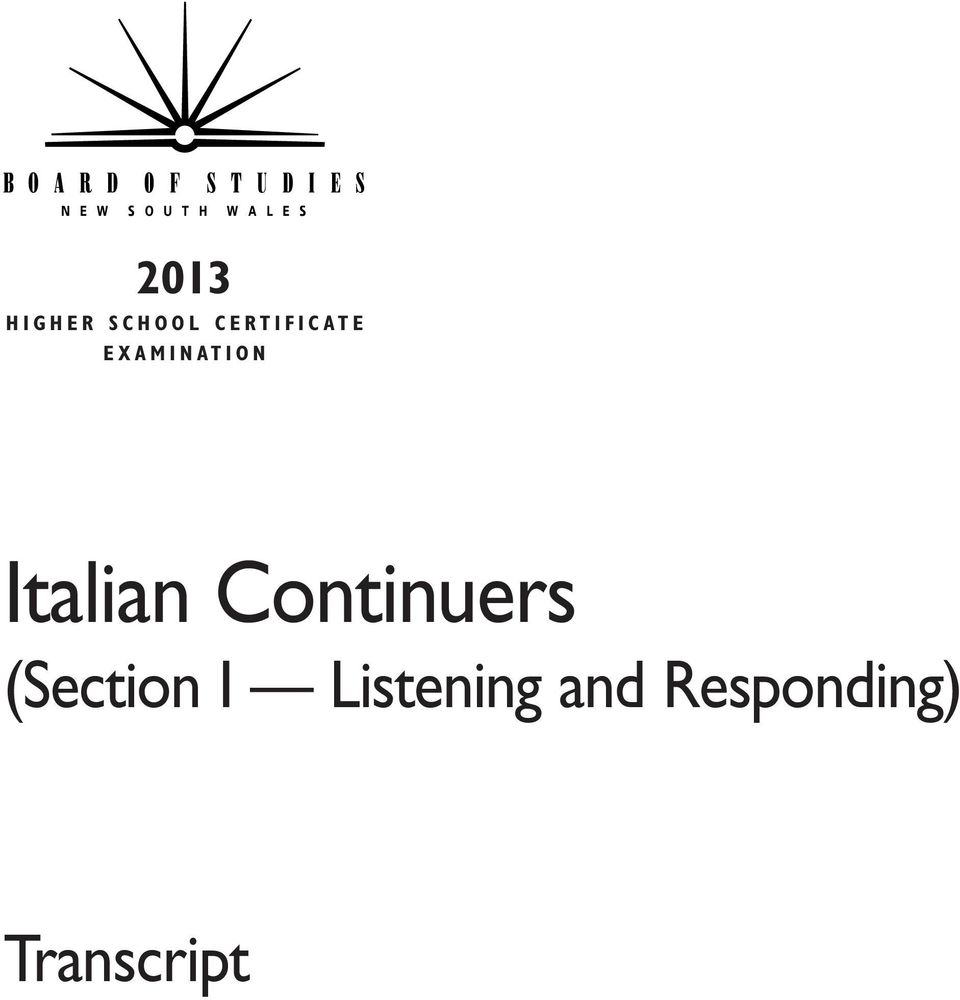 O N Italian Continuers (Section I