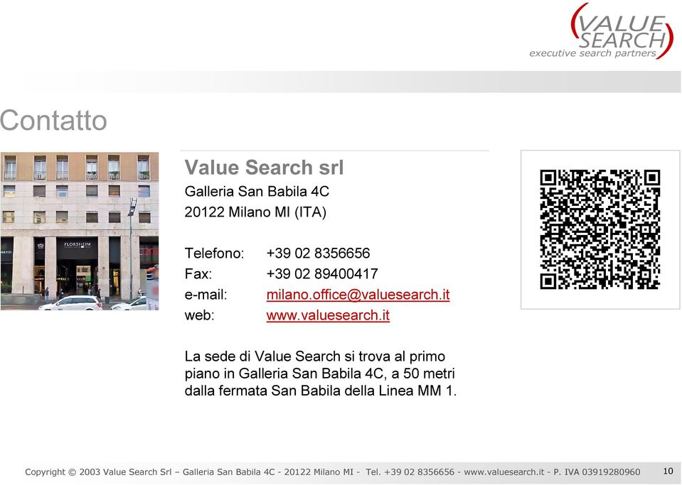 it web: www.valuesearch.