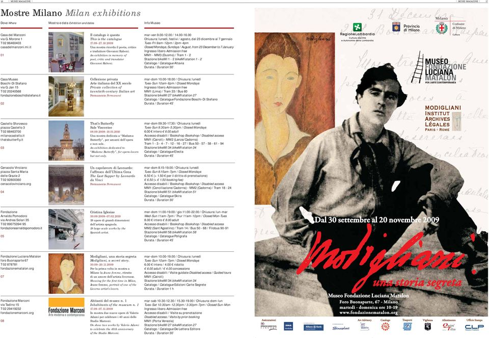 An exhibition in memory of poet, critic and translator Giovanni Raboni. mar-ven 9.00-12.00 / 14.00-16.