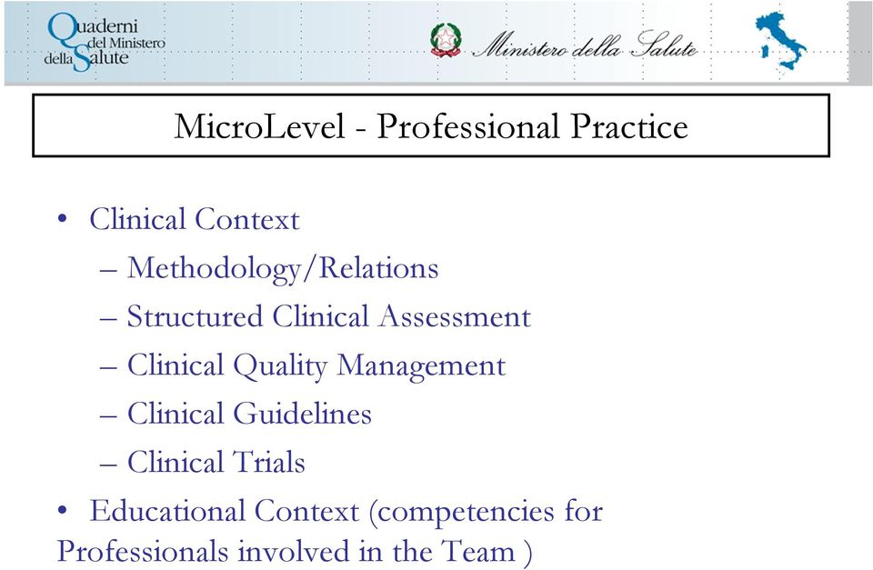 Clinical Quality Management Clinical Guidelines Clinical