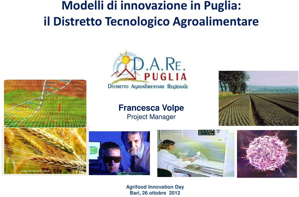 Francesca Volpe Project Manager