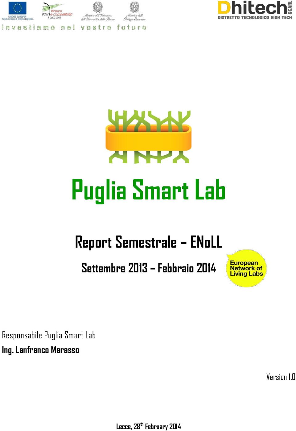Responsabile Puglia Smart Lab Ing.