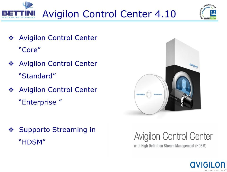 Avigilon Control Center Standard