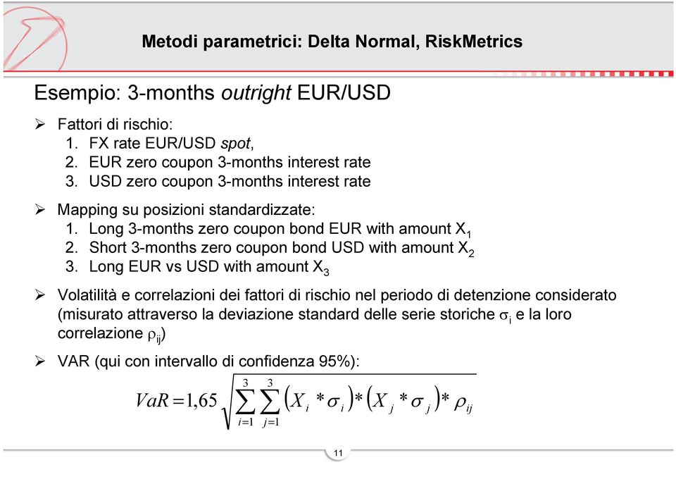 Short 3-months zero coupon bond USD with amount X 2 3.