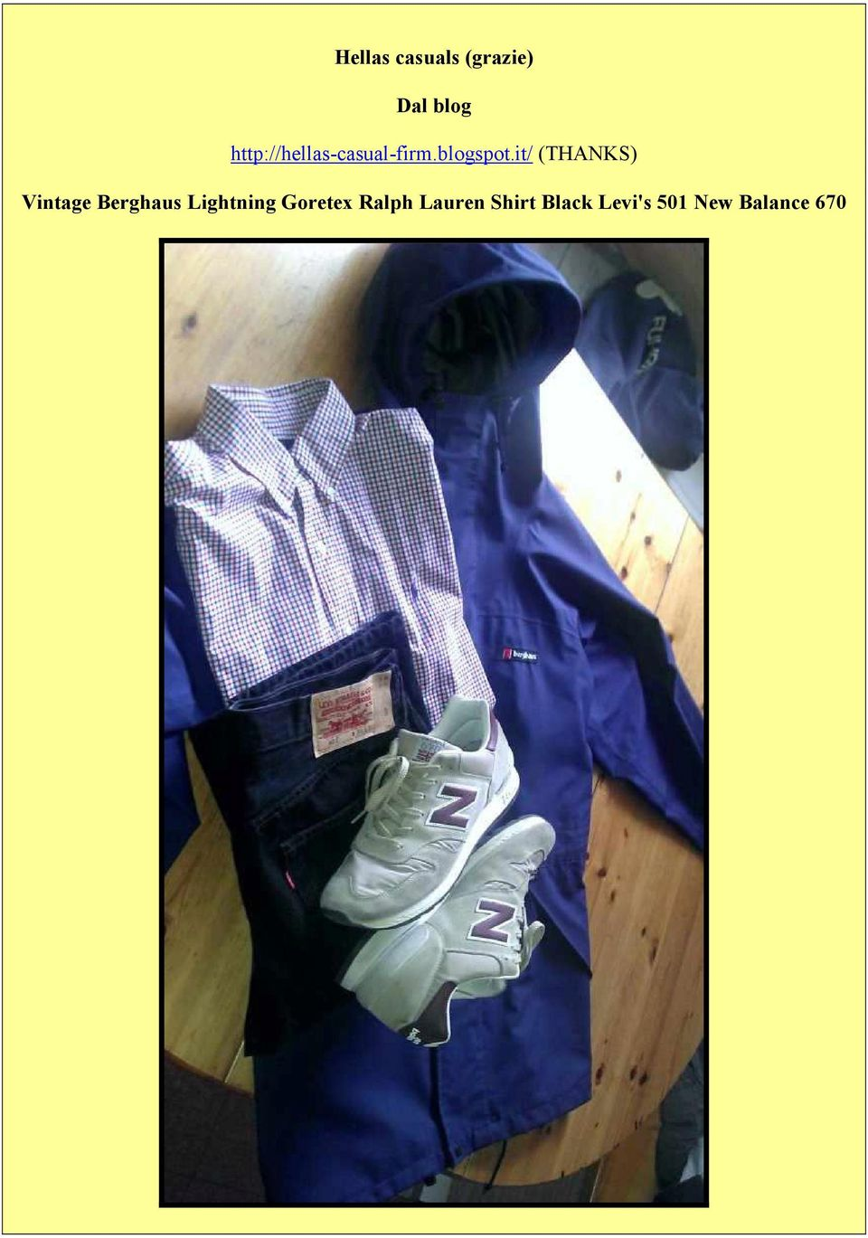 it/ (THANKS) Vintage Berghaus Lightning