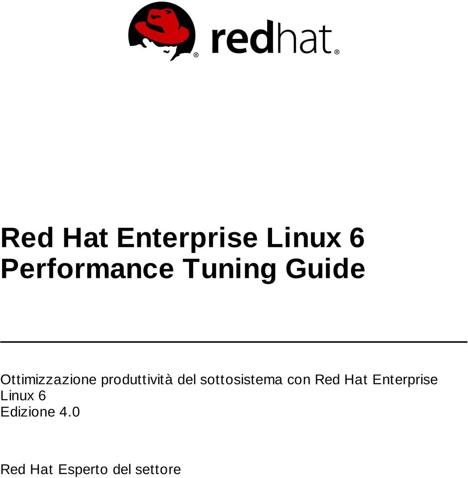 del sottosistema con Red Hat Enterprise