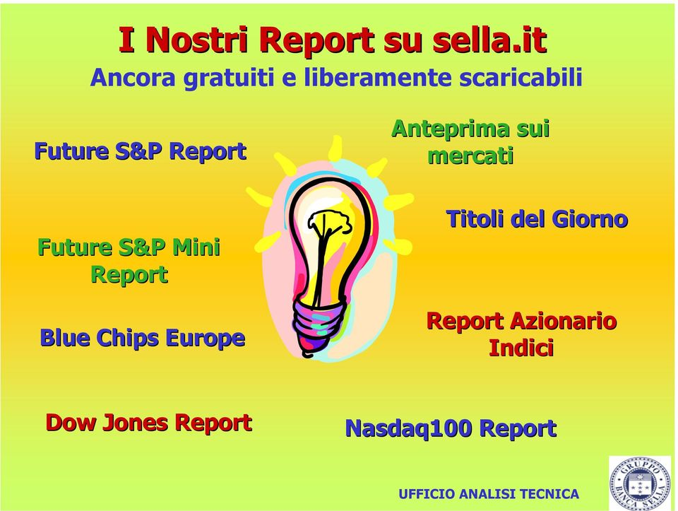 Report Future S&P Mini Report Blue Chips Europe