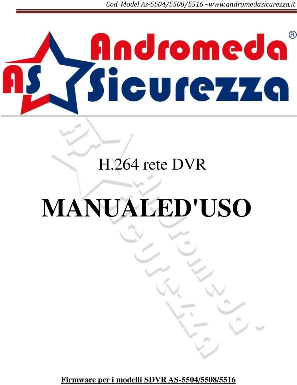 264 rete DVR MANUALED'USO