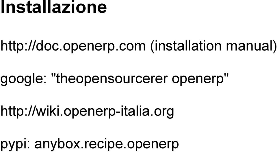 """theopensourcerer openerp"""