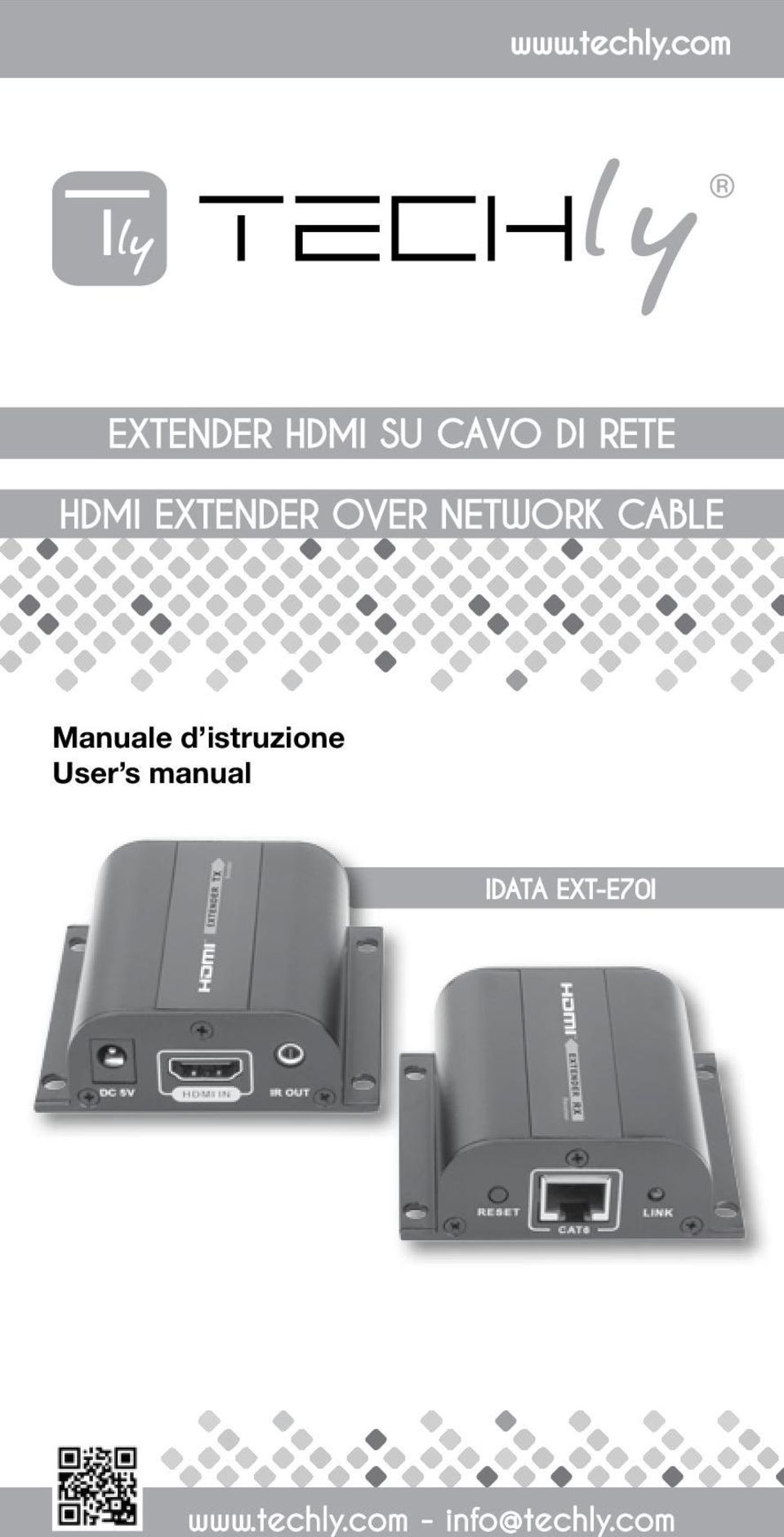EXTENDER OVER NETWORK CABLE Manuale d