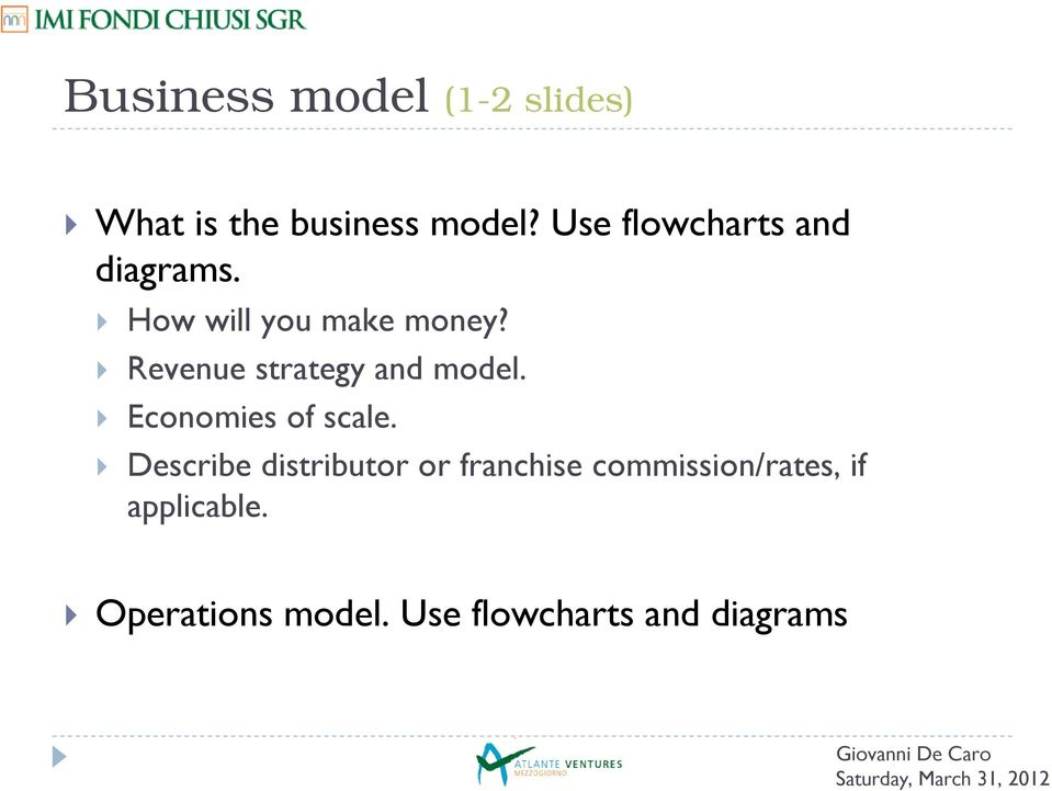 Revenue strategy and model. Economies of scale.