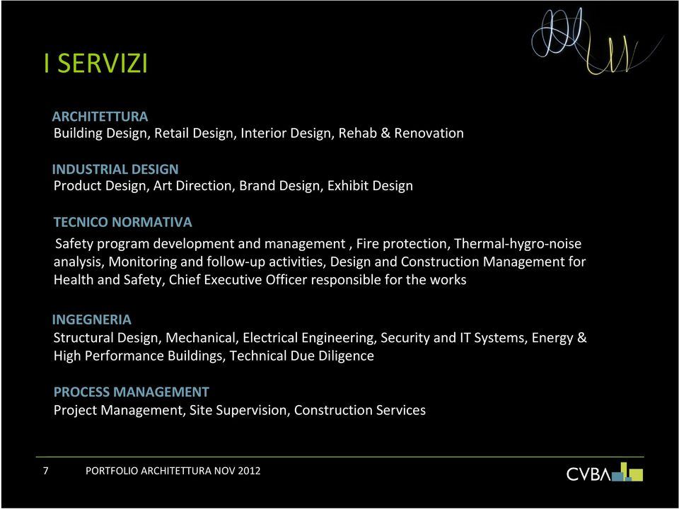 Management for Health and Safety, Chief Executive Officer responsible for the works INGEGNERIA Structural Design, Mechanical, Electrical Engineering, Security and IT