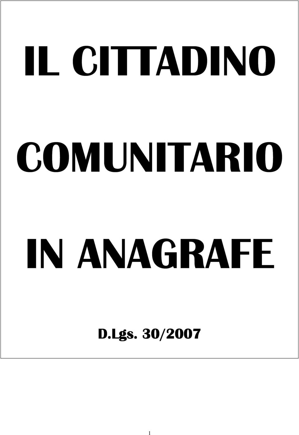 IN ANAGRAFE D.