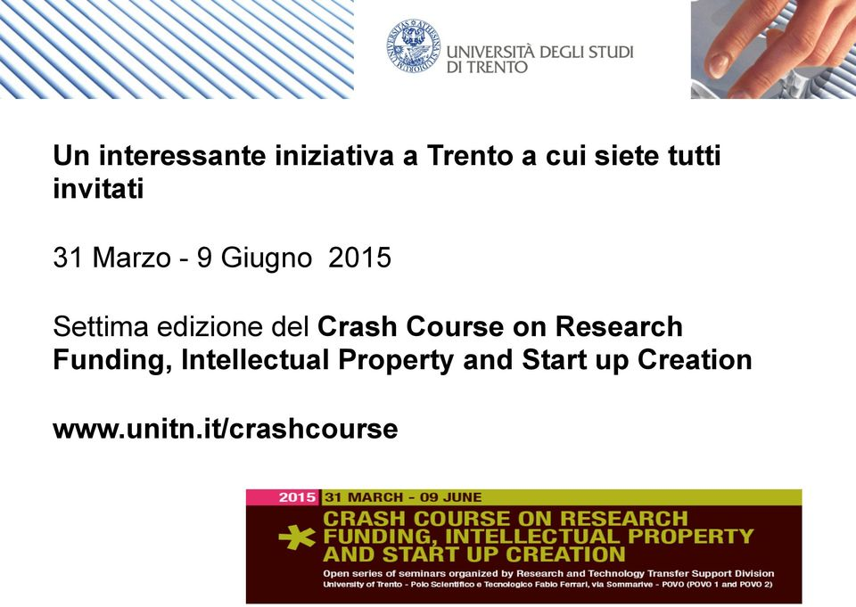 edizione del Crash Course on Research Funding,
