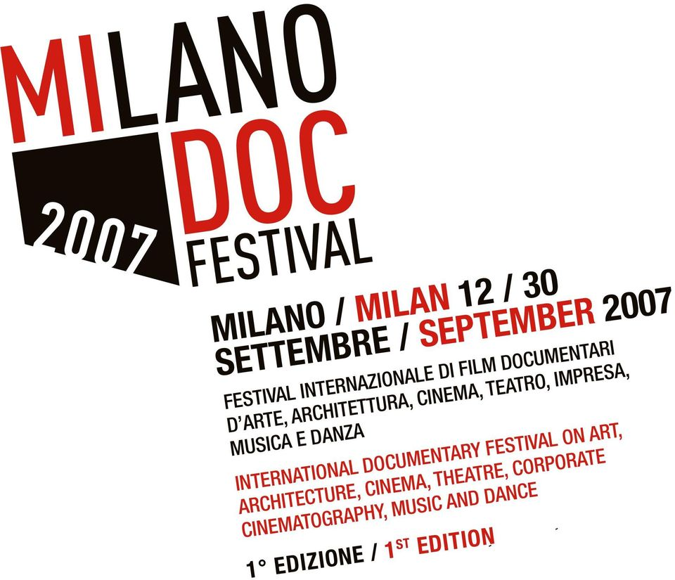 E DANZA INTERNATIONAL DOCUMENTARY FESTIVAL ON ART, ARCHITECTURE, CINEMA,
