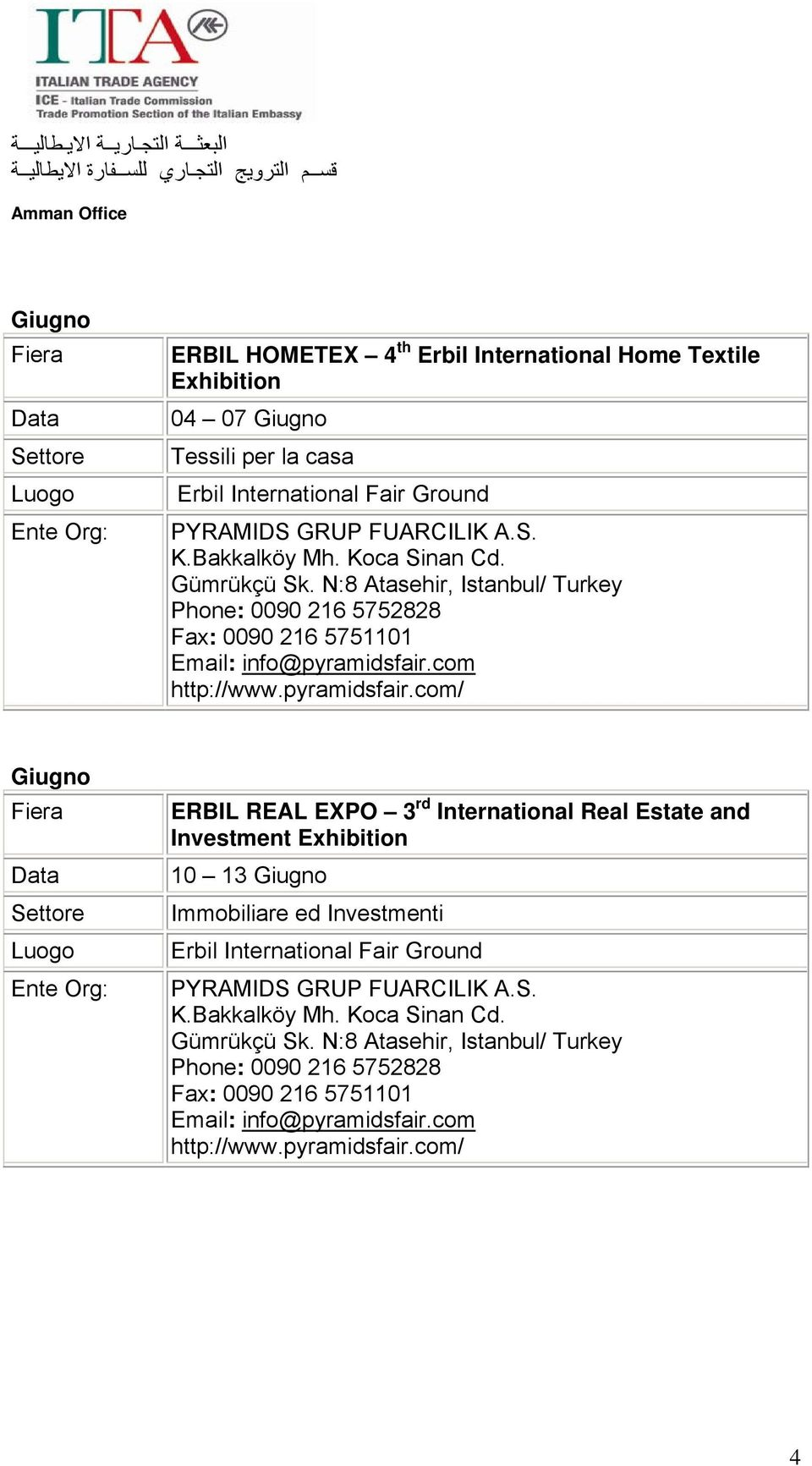 Giugno rd ERBIL REAL EXPO 3 International Real Estate