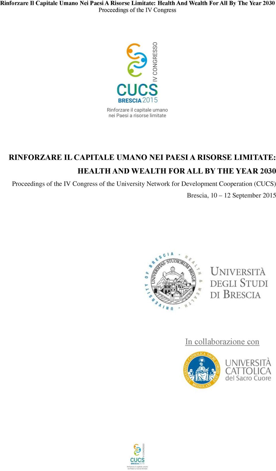 of the University Network for Development Cooperation